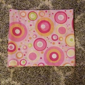 Window Valance Lizzie McGuire Disney Pink Circles